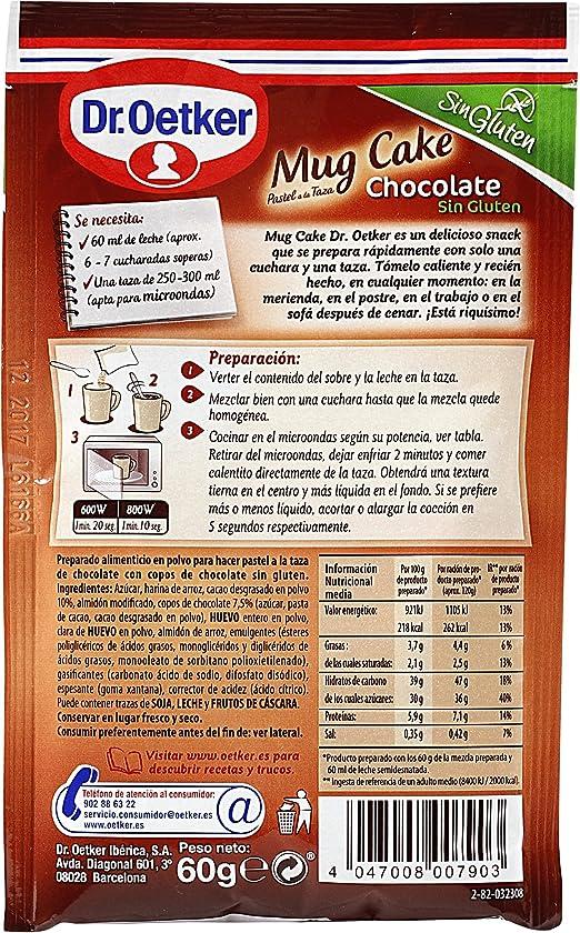 Mug Cake Chocolate Sin Gluten: Amazon.es: Alimentación y bebidas