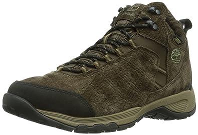 5d98405bb402e6 Timberland Herren Translite 2.0 FTP Tilton Mid Leather GTX Trekking-    Wanderstiefel Braun (Dark Brown