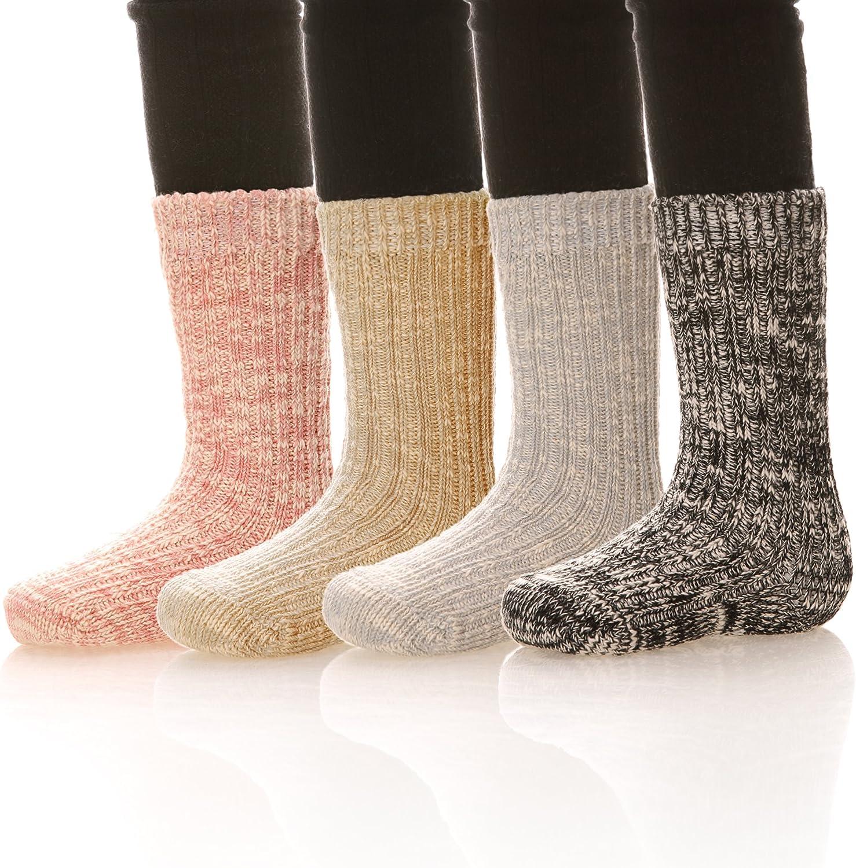 Children Soft Thick Cotton Winter Socks Warm Thermal Kids Toddler Socks 6 Pairs Random Color