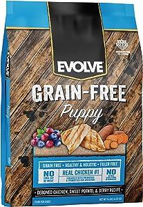 Evolve Super Premium Grain Free Dog Food Diets Deboned Chicken, Sweet Potato, Pea Puppy Diet