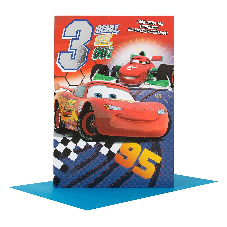 Hallmark - Tarjeta de 4.º cumpleaños, diseño de Disney Cars ...