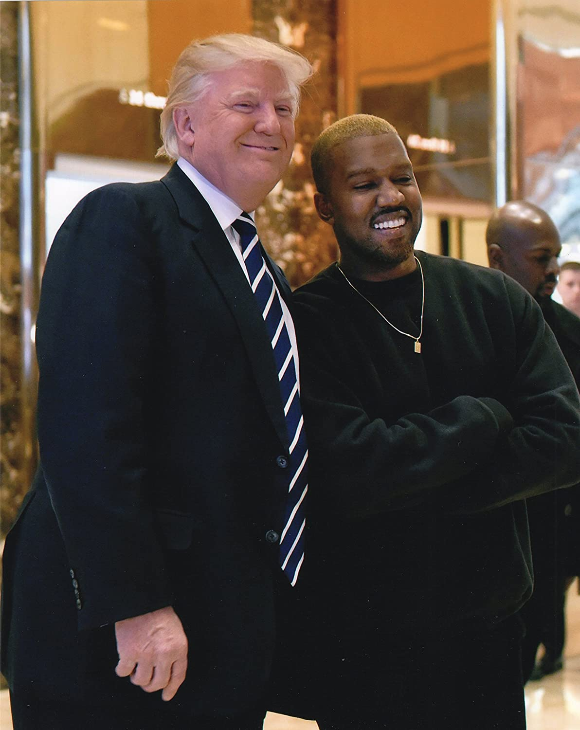 President Donald J Trump Kanye West Photo Free Thinkers Photos 8x10 Perfect Posters and Pics