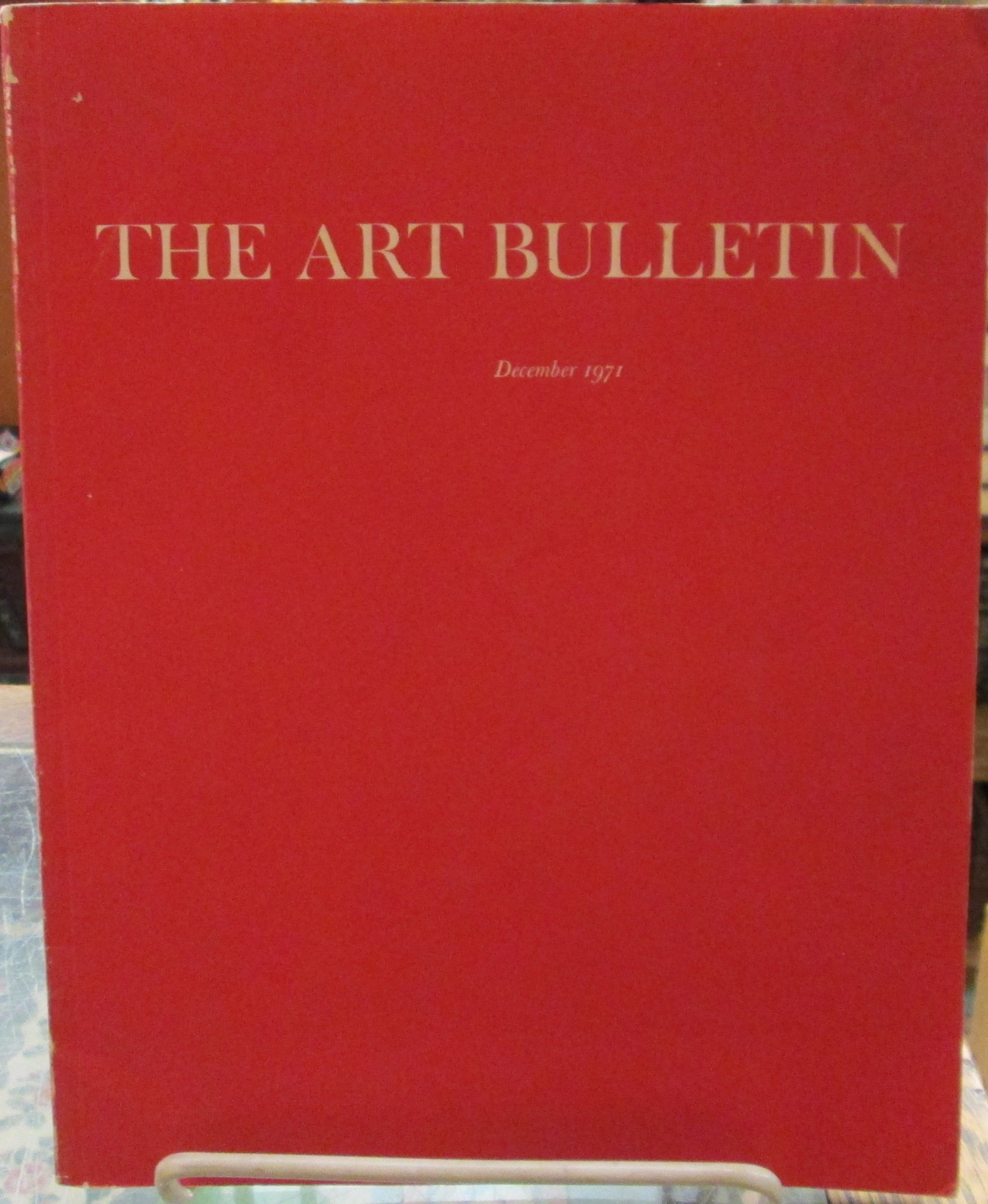 the art bulletin a quarterly published by the college art association of america december 1971 volume liii number 4