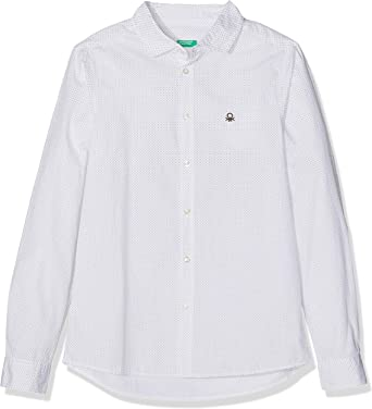 United Colors of Benetton Shirt, Blusa Niños, Blanco (White - All-Over), 6-7 Years (Talla fabricante: 120 cm(S)): Amazon.es: Ropa y accesorios