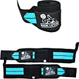 Wrist Wraps (1 Pair/2 Wraps) for Weightlifting/Cross Training/Powerlifting/Bodybuilding - for Women & Men - Premium…