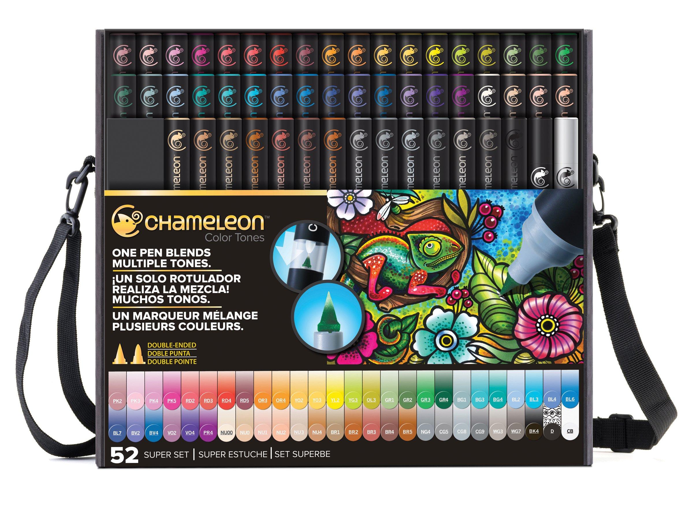Chameleon Art Products, Chameleon Color Tones, Complete Set - 52 Pens by Chameleon