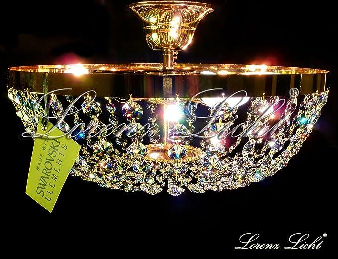 Plafoniere Cristallo Swarovski : Plafoniera luci cromo e cristallo luxury crystal arredo luce