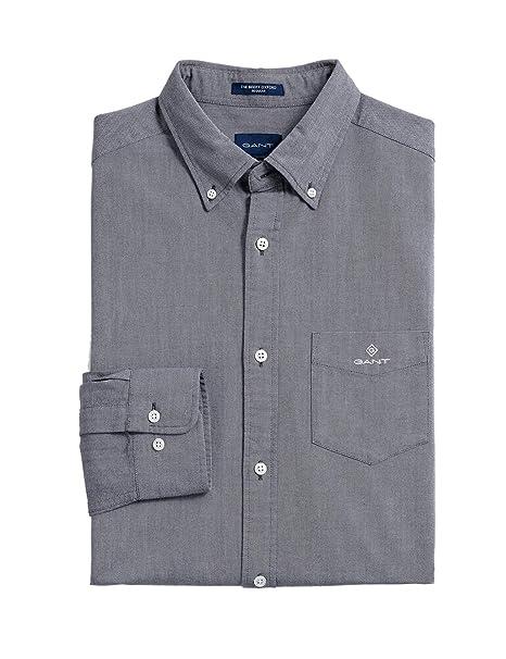 GANT The Beefy Oxford Shirt Reg BD Camisa, Evening Blue, XL para ...