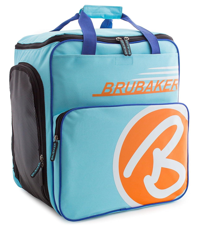 Brubaker Skischuhtasche Helmtasche Skischuhrucksack Super Champion Braun Sand Limited Edition