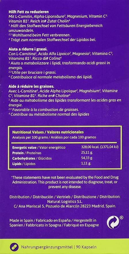 XS Natural Cápsulas Quemagrasas Que Ayudan a Perder Peso - 50 gr: Amazon.es: Belleza