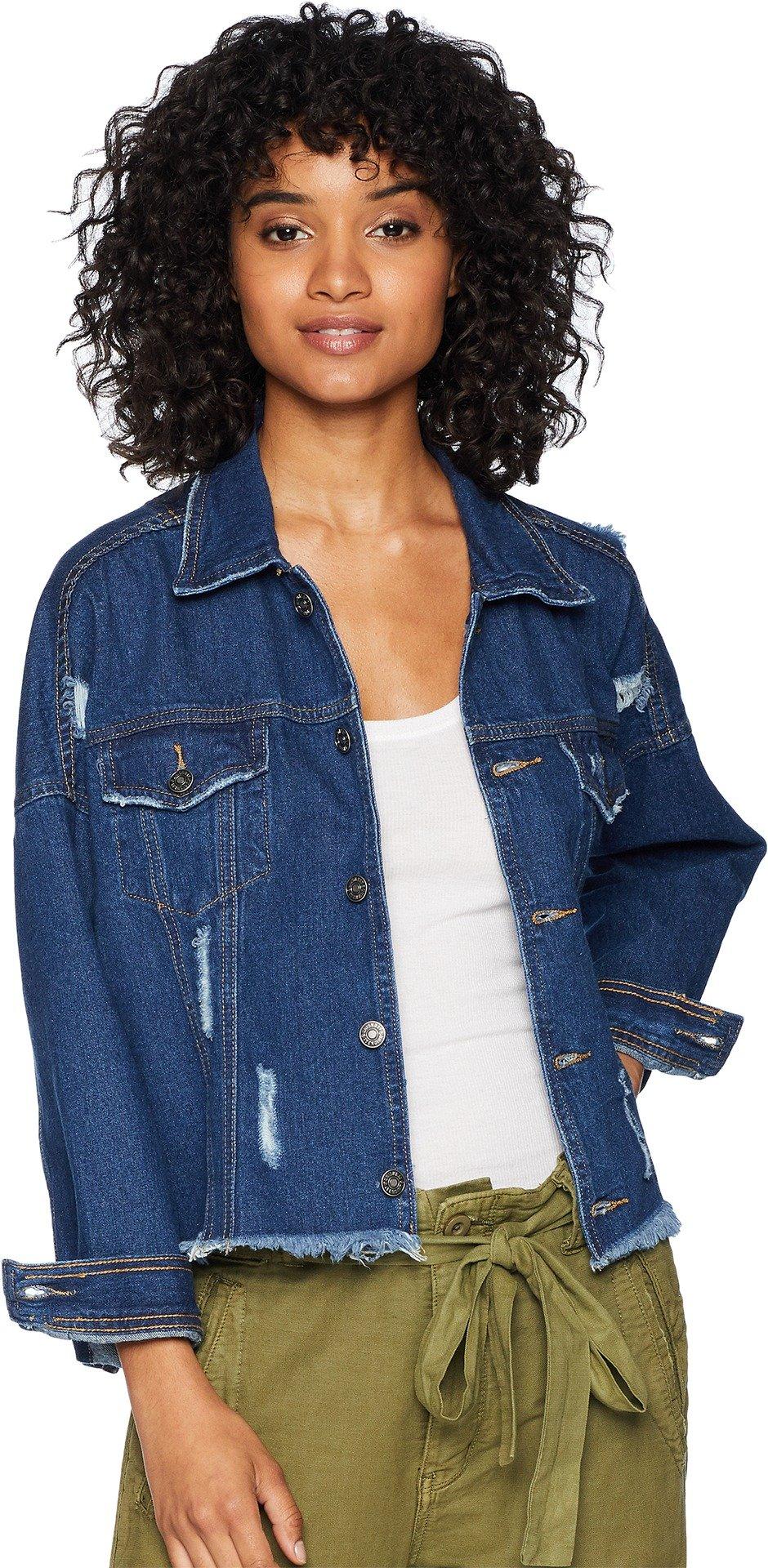 UNIONBAY Women's Kaplan Denim Jacket Ub Blue Large