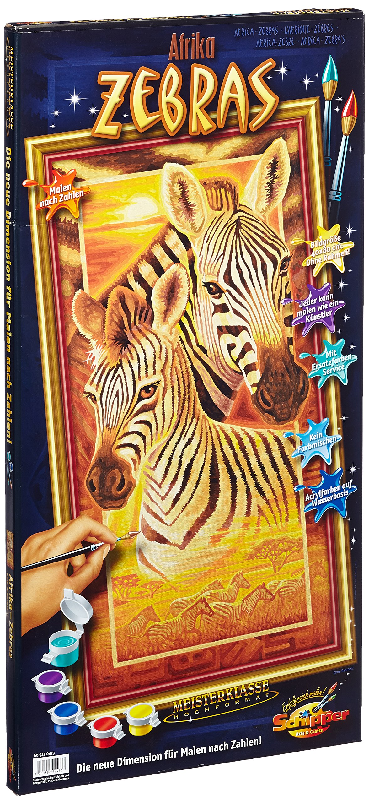 Zebras Paint-By-Number Kit