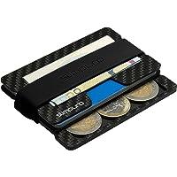 SLIMPURO Kreditkartenetui Herren mit Münzfach PICO - TÜV RFID Schutz - Carbon Slim Wallet mit CoinCard - Minimalisten Geldbeutel Geldbörse