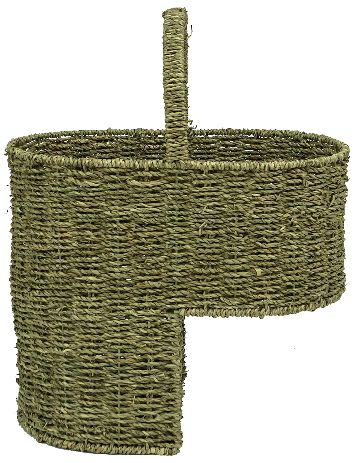 east2eden Seagrass Sea Grass Stair Step Storage Basket with Handle