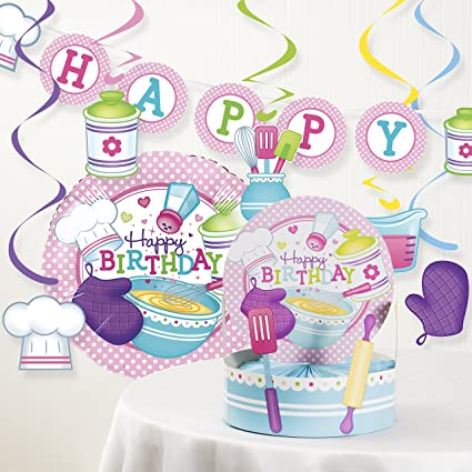 Image Unavailable Not Available For Color Creative Converting Little Chef Birthday Party Decorations Kit