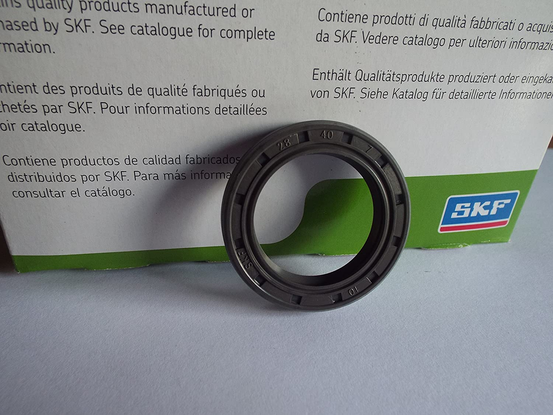 SKF 28x40x7mm Oil Seal Double Lip R23/TC Nitrile Rubber Garter Spring Lancashire Seals