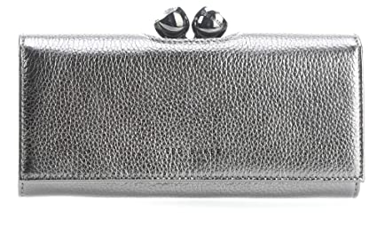 6d32ec5064 Image Unavailable. Image not available for. Colour: Ted Baker Muscovy Wallet  Metallic Silver