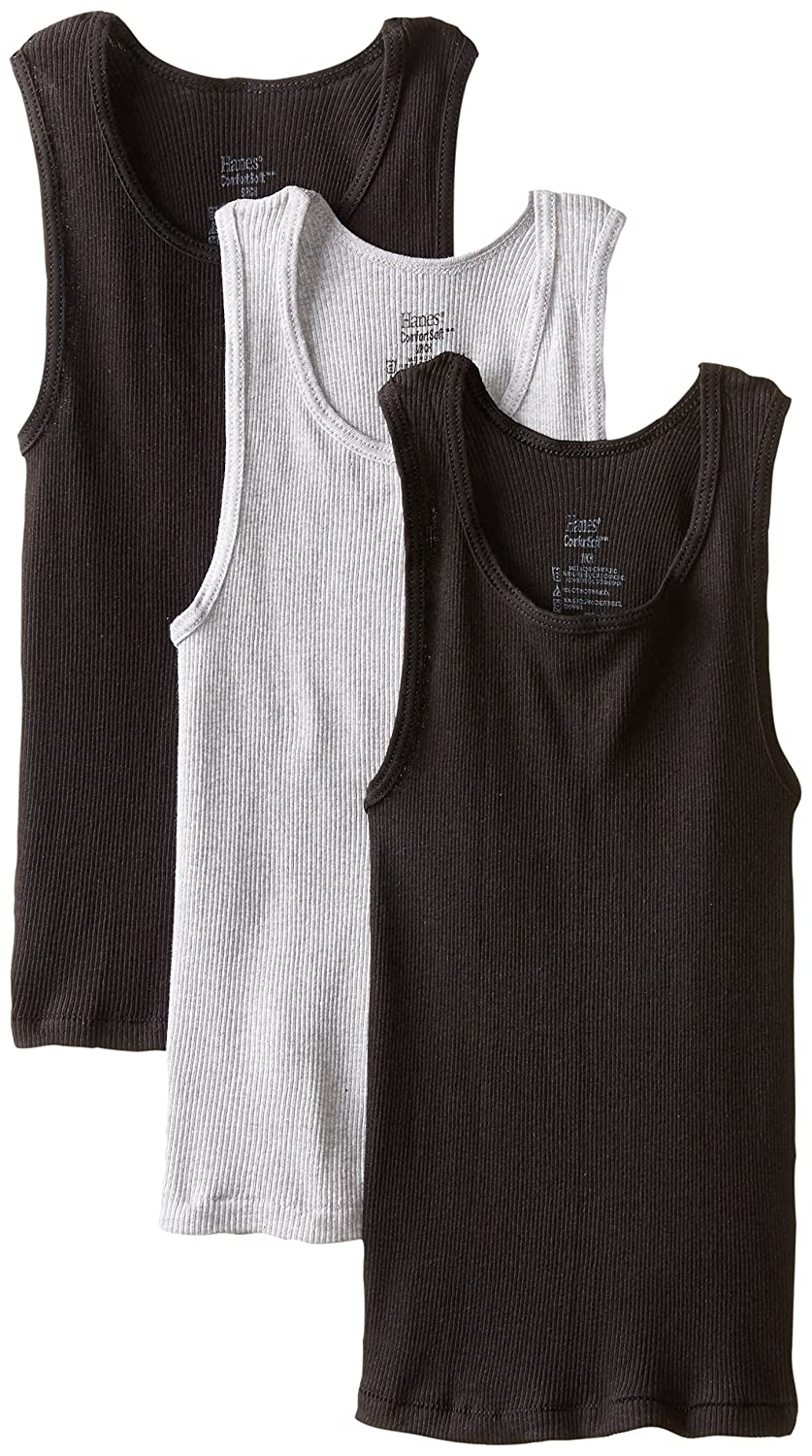 Hanes boys Big Boys Dyed Tank Hanes Big Boys' Dyed Tank Assorted Medium Hanes Boys Red Label Tops