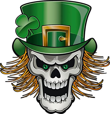 amazon com creepy st patrick s day leprechaun skull cartoon icon