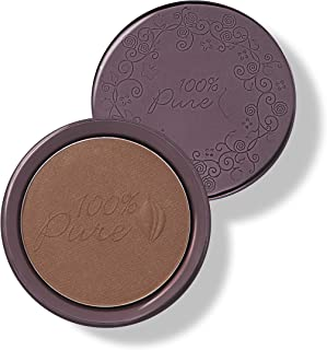 product image for 100% PURE Cocoa Pigmented Bronzer, Cocoa Glow, Bronzer Powder for Face, Contour Makeup, Soft Shimmer, Sun Kissed Glow (Deep Brown w/Gold-Red Undertones) - 0.32 Oz