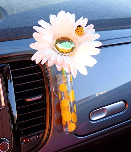 Amazon Vw Beetle Flower White And Yellow Bling Daisy With