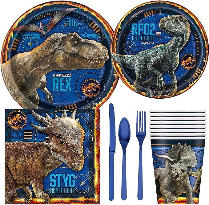 Amazon.com: Jurassic World Fallen Kingdom - Juego de platos ...