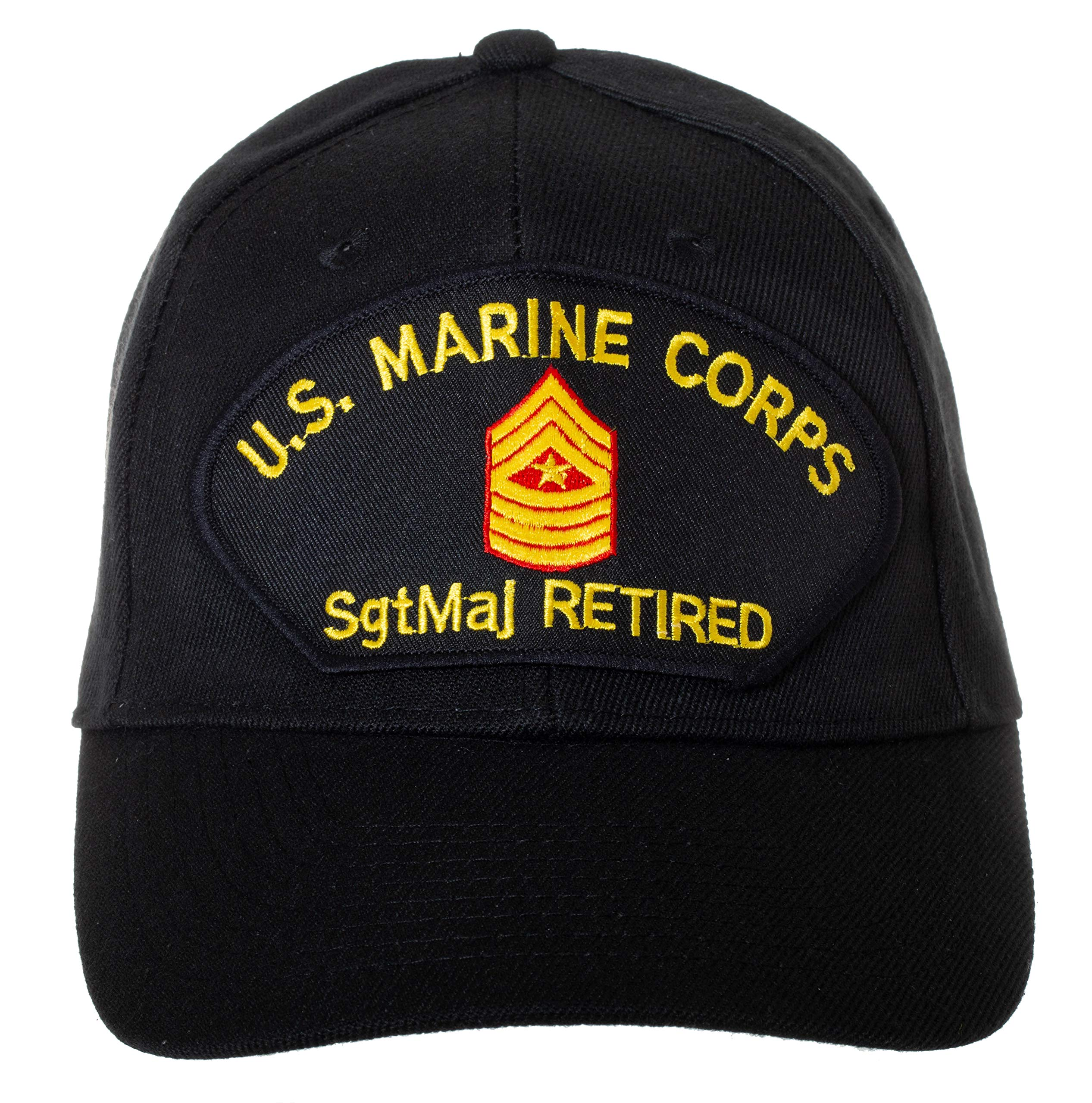 d7e9a0205d1 Artisan Owl US Marine Corps Retired Sergeant Major Embroidered Patch Black  Baseball Cap