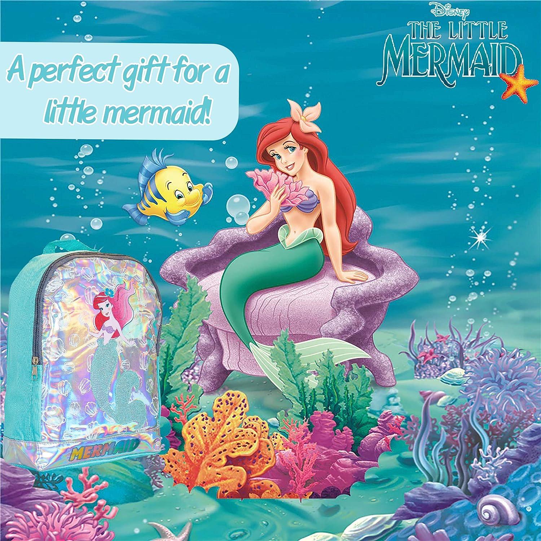 Regalos Originales Para Ni/ñas Disney Mochila Escolar Ni/ña Con Dise/ño Hologr/áfico Princesa Disney La Sirenita Ariel Mochilas Escolares Juveniles Para Colegio Guarder/ía Viajes