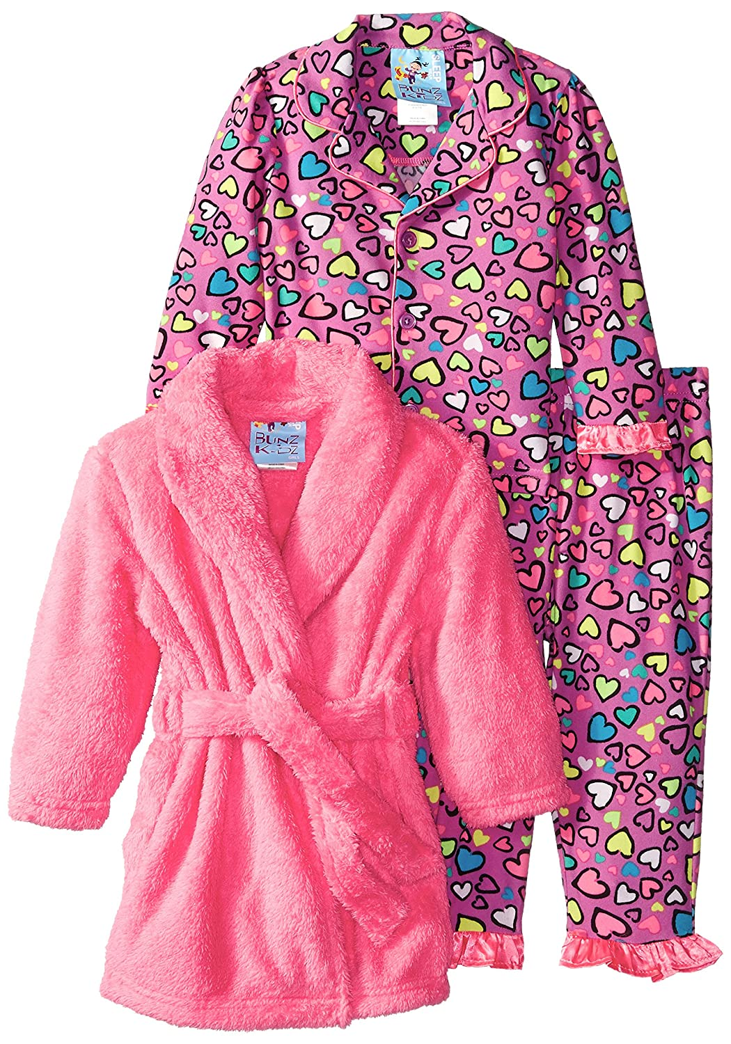 【訳あり】 Baby Bunzベビー女の子3 Piece Hearts Piece 12 Robe andパジャマセット B00VCATZ1M 12 Months ピンク B00VCATZ1M, エムールベビー&ファミリー:109bf2ab --- turtleskin-eu.access.secure-ssl-servers.info
