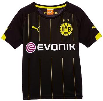 Puma BVB - Camiseta de fútbol para niño (del equipo Borussia Dortmund) negro negro/amarillo Talla:176: Amazon.es: Deportes y aire libre
