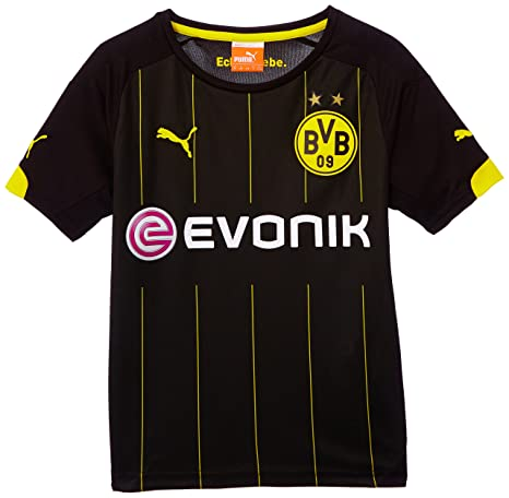 Puma BVB - Camiseta de fútbol para niño (del equipo Borussia Dortmund) negro negro