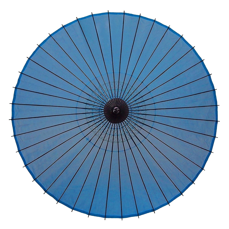 和傘 絹傘 無地 水色 継柄 踊り傘 B01CCYUFDS