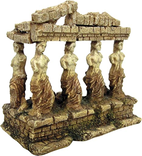 Amazon.com: Ola Templo griego con adorno de acuario de ...