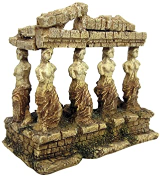 Croci A8011642 Figura Decorativa para Acuario, Diseño de Templo Griego con Diosas: Amazon.es: Productos para mascotas