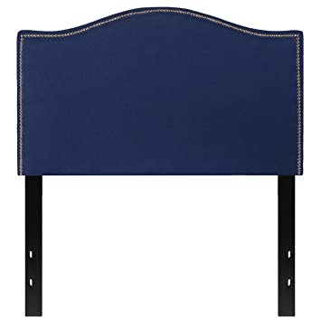 Flash Furniture Lexington Upholstered Twin Size Headboard With Decorative  Nail Trim In Navy Fabric