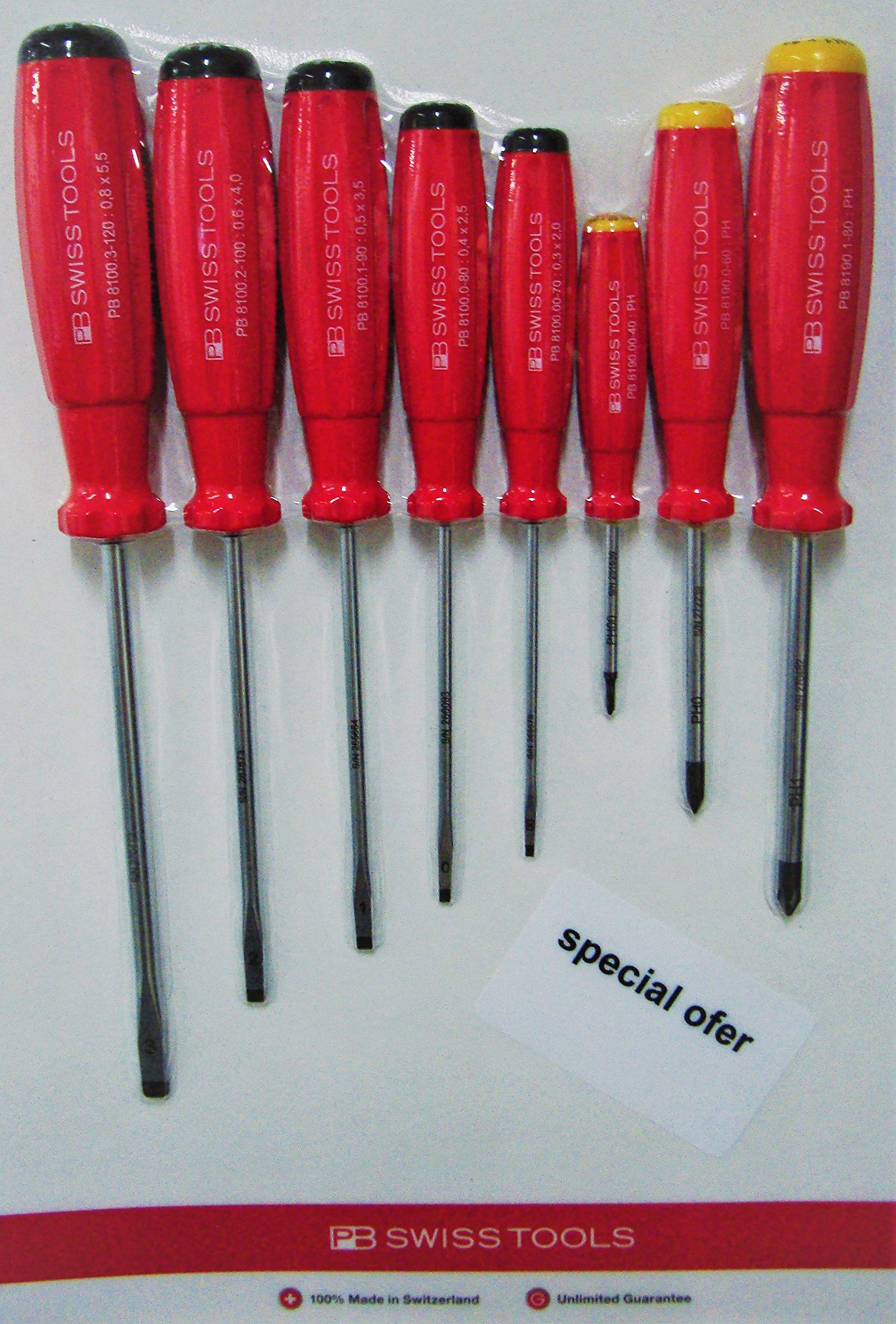 8 pcs Set Car Professional 5 Slotted Screwdrivers + 3 Phillips Screwdrivers