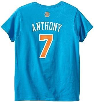 NBA New York Knicks Carmelo Anthony Mujeres Camiseta de Nombre y número tee - 21NBWA47ADC1474, Azul: Amazon.es: Deportes y aire libre
