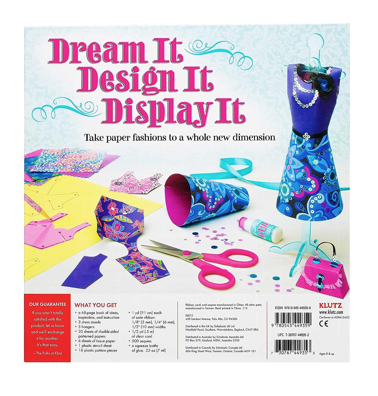 amazon com klutz fashion forms craft kit april chorba toys games