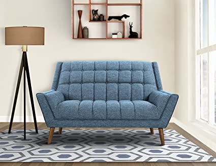 Amazon.com: Armen Living LCCO2BL Cobra Loveseat in Blue ...