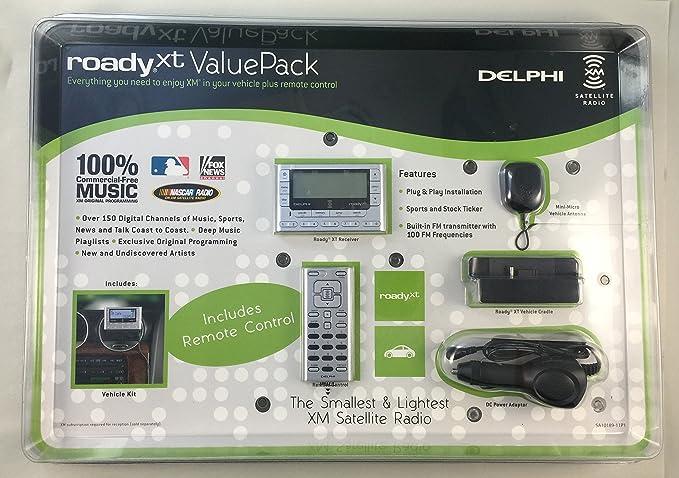amazon com delphi xm roady xt satellite radio value pack cell rh amazon com XM Radio Delphi Roady XT Roady Prime Rib