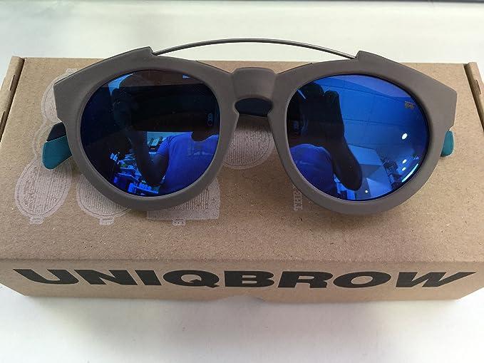 Gafas de sol UNIQBROW CAGE GRIS (terminal azul. Cristal azul ...