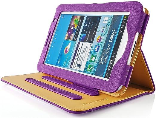 46 opinioni per JAMMYLIZARD | Custodia in pelle per Samsung Galaxy Tab 2 7.0, SABBIA e VIOLA