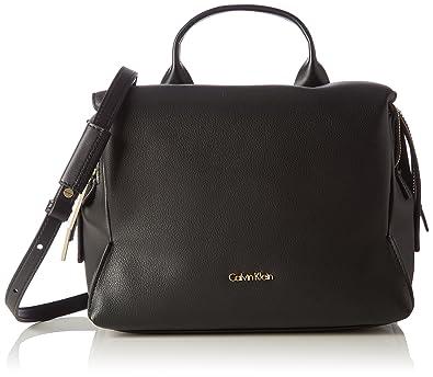 Calvin Klein Milli3 Medium Satchel Women S Handbag Schwarz Black