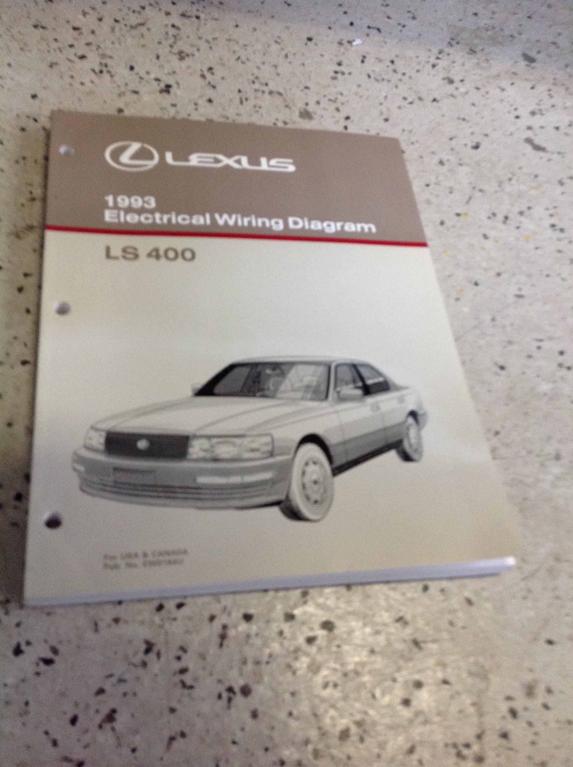 1993 lexus ls400 ls 400 electrical wiring diagram manual ewd  1993 lexus ls400 wiring diagram #9