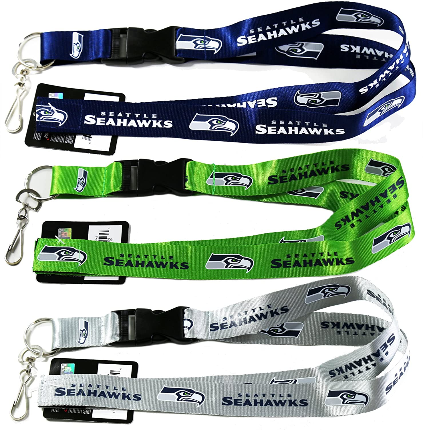 Amazon.com: NFL Seattle Seahawks Cordón, 1 verde, 1 Plata, 1 ...