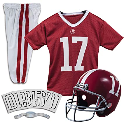 460bb784b Franklin Sports NCAA Team Licensed Youth Football Deluxe Uniform Set