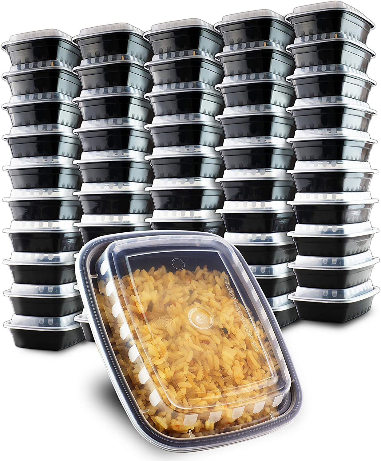 50 Pack- Chefible 12 oz Small MINI Food Storage or Bento Container, Bariatric Meal Prep, Durable, BPA-free, Reusable, Washable, Microwavable, Perfect for Portion Control!