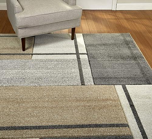 Gertmenian Bohemian Rug III Transitional Modern Carpet, 8 x 10 Large, Geometric Abstract Tile