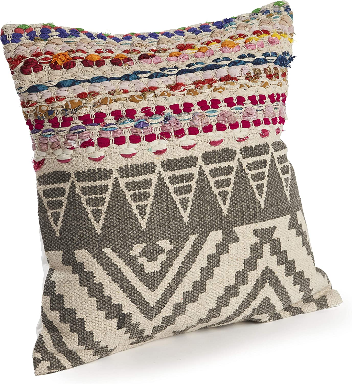 Amazon Com Lr Home Boho Geometric Throw Pillow 18 X 18 Multi Home Kitchen