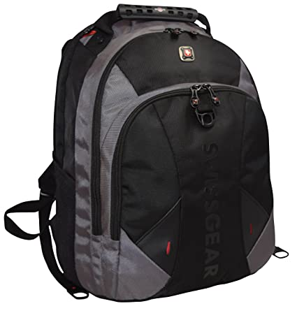 c6ba6508e7dd SwissGear Pulsar 16 Padded Laptop Backpack - Black/Gray